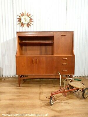 G Plan Mid-Century teak highboard sideboard drinks cabinet