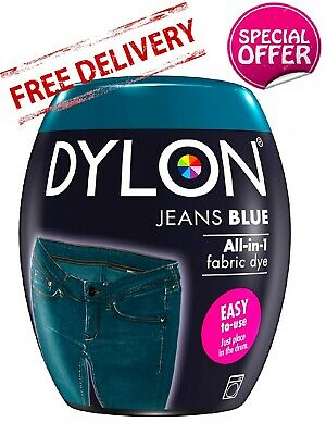 DYLON Washing Machine Fabric & Clothes Dye Pod - Jeans Blue Colour Paint 350G