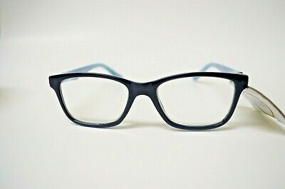 New Foster Grant Gloss Reading Glasses +1.00 Tulla Blue With Spring Hinges