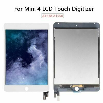 White LCD Screen Display + Touch Screen Digitizer for iPad Mini 4 A1538 A1550