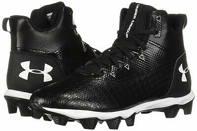 2019 Under Armour Men's UA Hammer Mid RM Wide Football Cleats Black Shoes