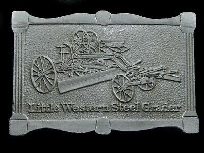 Sb05168 Vintage 1976 **Little Western Steel Grader** Clark Equipment Co. Buckle