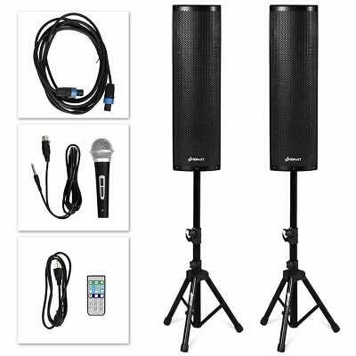 Active 3-Way 6.5'' 200W All-in-one PA Speaker DJ Loud Speaker with Bluetooth, US