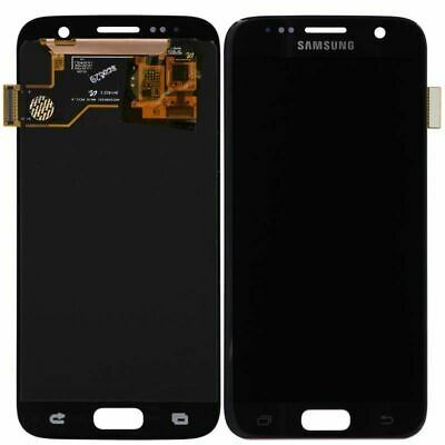 Brand New Samsung Galaxy S7 G930A G930V LCD Digitizer Screen w/ Logo Black Onyx