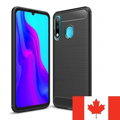 For Huawei P30 Lite Case - Shockproof Carbon Fiber Soft TPU Hybrid Cover