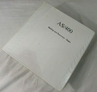 IBM AS/400 Backup and Recovery - Basic Version 3 Manual SC41-3304-01