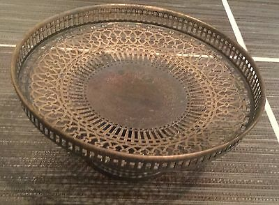 Wilcox & Wagoner Compote dish 3135- Antique & Pierced - American Sterling Silver