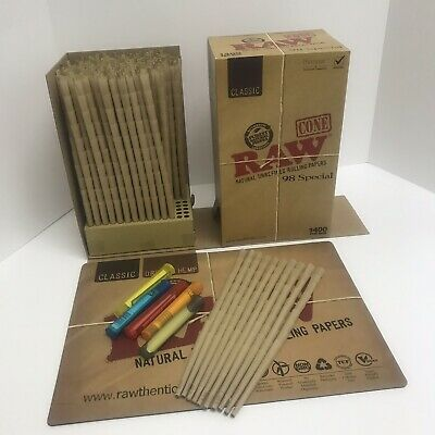 RAW Cones 98 Special Authentic Pre-Rolled 100 Pack ~ 5 J Tubes