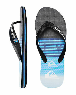 NEW QUIKSILVER™  Mens Molokai Word Block Thongs Flip Flops Slippers