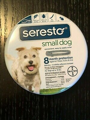 Bayer Seresto Small Dog Flea & Tick Collar Free Ship Epa Approved No Exp Date