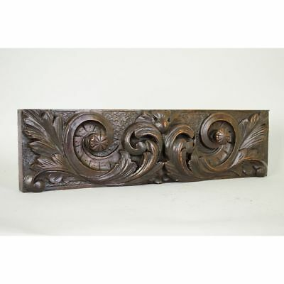 Antique Carved English Architectural Salvaged Decorative Panel / Drawer