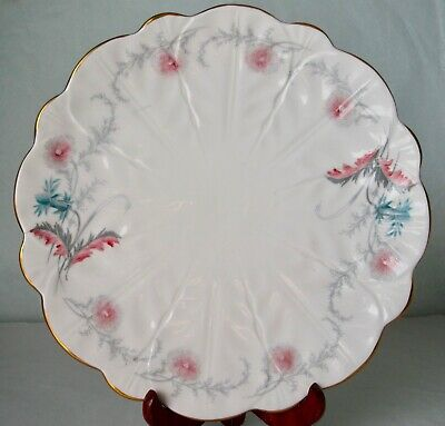 Aynsley Art Deco WAYSIDE Bone China Flower Shaped Cake Plate 1930s