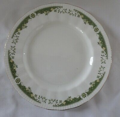 PARAGON LYNWOOD Lot of 2 SALAD DESSERT PLATE green pattern gold rims