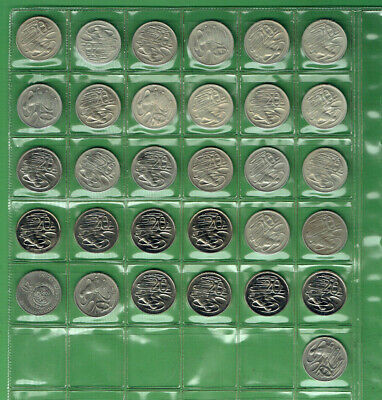 #T309.   1966 - 1996  Australian Curculated / Uncirculated 20 Cent Coins