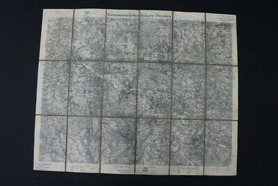 Old Map Garnisonumgebugnskarte Dresden Old Vintage Rare