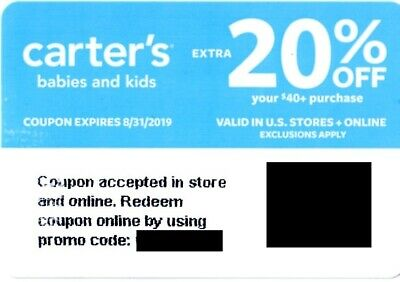 Carter S Coupon 20 Off Purchase Of 40 Or More Exp 8 31 19 August