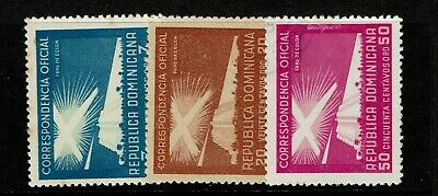 Dominican Republic SC# O30 (Used) O31 Mint Hinged (Tiny Thin) & O32 Used - S7606