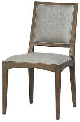 "20"" W Alberta Dining Chair Grey Fabric Seat & Back Solid Hardwood Frame"