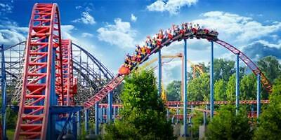 Two (2) 2019 Six Flags Great America Single Day E-tickets