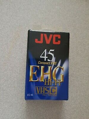 JVC 45 EHG Compact VHS Cassette VHSC pal Secam, New and Sealed Video