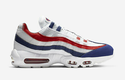 official photos de7dc d2e5e Nike Air Max 95 OG USA 2019 White Gym Red Deep Royal Blue CJ9926-100