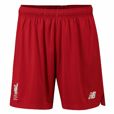New Balance Official Mens Liverpool FC On-Pitch Knit Football Shorts Red