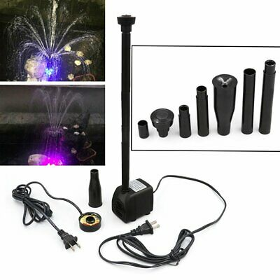 750L/h Aquarium Fish Pond Pool 12 Color LED Submersible Water Pump Fountain 15W