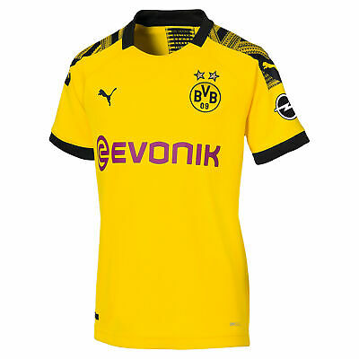 Puma Official Womens BVB Borussia Dortmund Home Football Shirt Jersey Top 19-20