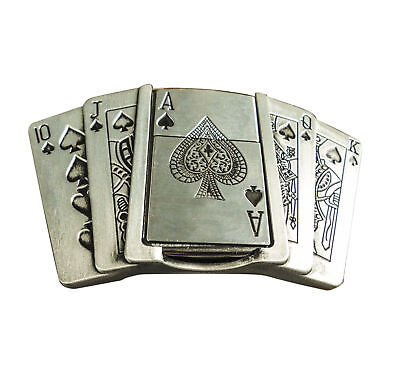 Belt Buckle - Playing Cards with Lighter fit 40mm belt