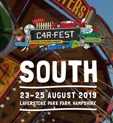 Carfest South 2019 Tickets - 2 x Child Weekend Camping - LESS THAN FACE VALUE