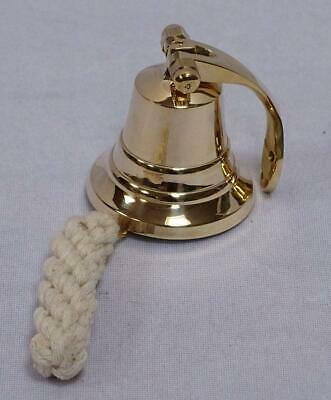 G3106 Small Bell with Wall Mount and Lanyard Polished Brass Ø 5 CM