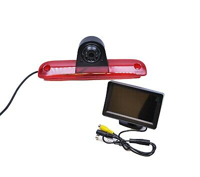 "Wireless Fiat Ducato 06 -15 Rear Reversing Camera Brake Light +4.3"" Monitor Kit"