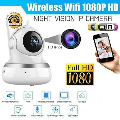 1080P HD Home Security IP Camera Wireless Wi-Fi Automatic Tracking Baby Monitor