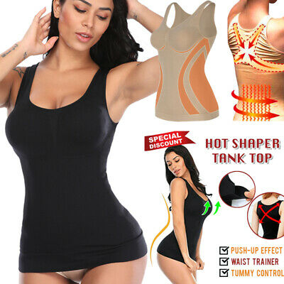Womens Seamless Compression Vest Body Shaper Shapewear Tank Top Slimmer Corsets