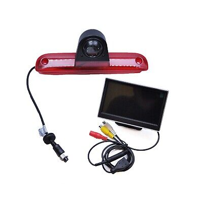 "Fiat Ducato 06 -15 Rear Reversing Camera IR Brake Light + 5"" LCD Monitor Kit"
