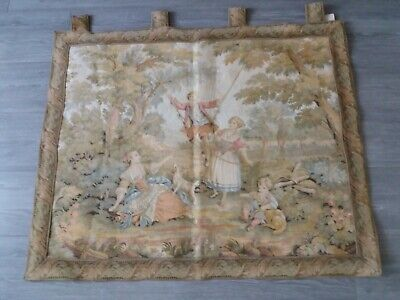 Wall Hanging Tapestry Pair Old