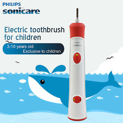UK New Philips Sonicare Children's Electric Single Toothbrush HX6330 HX6320 Red
