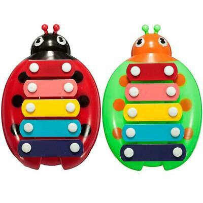 HOT Baby Child Kids 5-Note Xylophone Musical Toys Wisdom Development Beetle BE