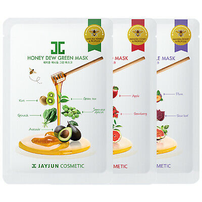 jayjun 6 Masks Honey Dew Mask Sheets Set Sweet Korea Mask Packs