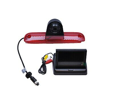 "Fiat Ducato 06 -15 Rear Reverse Camera IR Brake Light+ Foldable 4.3"" Monitor Kit"