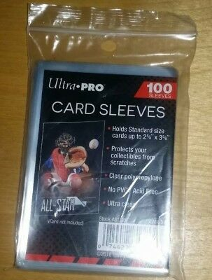 100ct Ultra Pro Soft Clear Card Penny Sleeves Standard Size