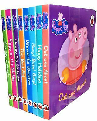 Peppa Pig Picture Flat 8 Board Books Collection Set NEW