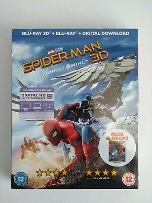 Spider-man Homecoming 3D Blu-ray + UV Code [Region Free] Limited Edition Sleeve