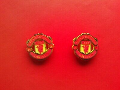 2 Man Utd United Football Club badges jibbitz croc shoe charms cake toppers