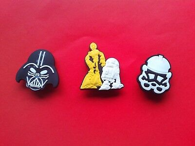 3 Star Wars R2D2 C3PO Darth Vader Stormtrooper jibbitz crocs charms cake toppers
