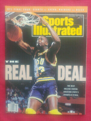 1991 NCAA LSU TIGERS SHAQUILLE O'NEAL 1st COVER! Sports Illustrated NO LABEL