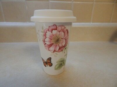 Lenox Butterfly Meadow Travel Ceramic Mug - flowers butterflies