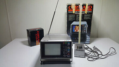 Portable Color TV Cortland CT500 w/ AC adapter WORKS!