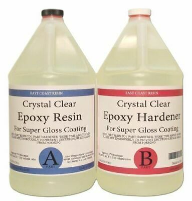 Epoxy Resin 2 Gal Crystal Clear Kit for Super Gloss Coating and Table Tops