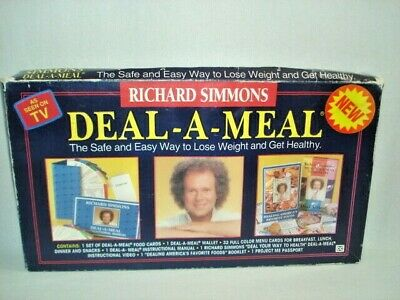 Richard Simmons Deal-A-Meal Weight Loss Kit Vintage 1993 As Seen on TV Complete
